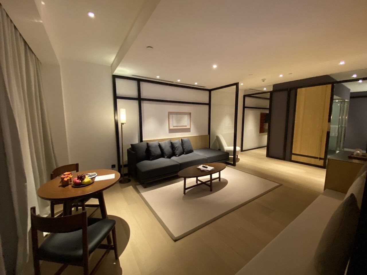 Hyatt Alila Bangasar suite living room with dining table